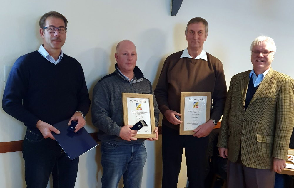 Jörg Cröger mit Ehrennadel des LSB in Silber geehrt