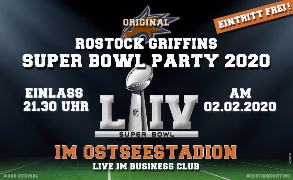 Die Griffins laden zur großen Super Bowl Party ins Ostseestadion