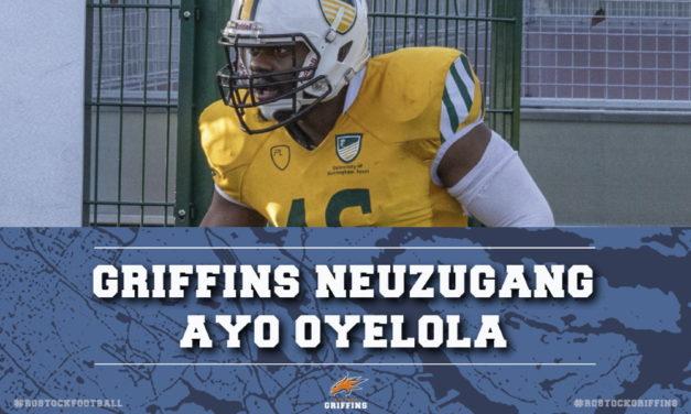 Ayo Oyelola verstärkt die Verteidigung der Griffins