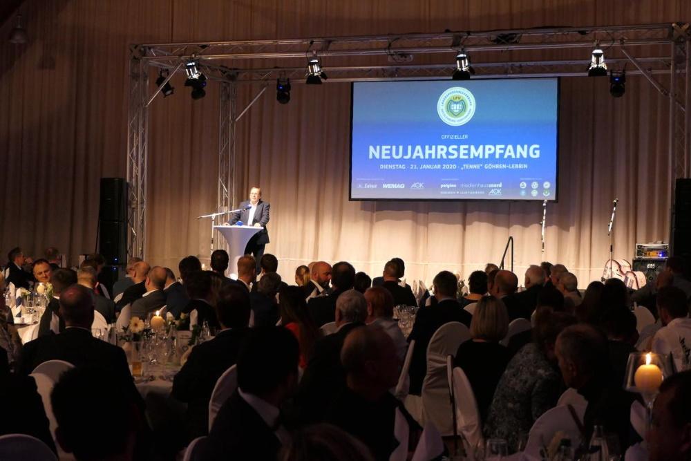 Neujahrsempfang 2020 des Landesfußballverband Mecklenburg-Vorpommern. FOTO: LFV