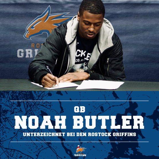 Noah Butler wird QB der Griffins
