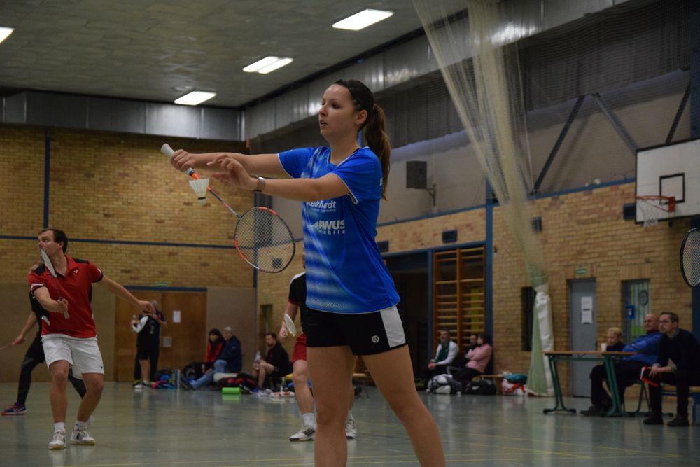 Samira Shiw Gobin im Dameineinzel während der Badminton Landesmeisterschaft 2019 in Greifswald. Foto: BSC 95 Schwerin