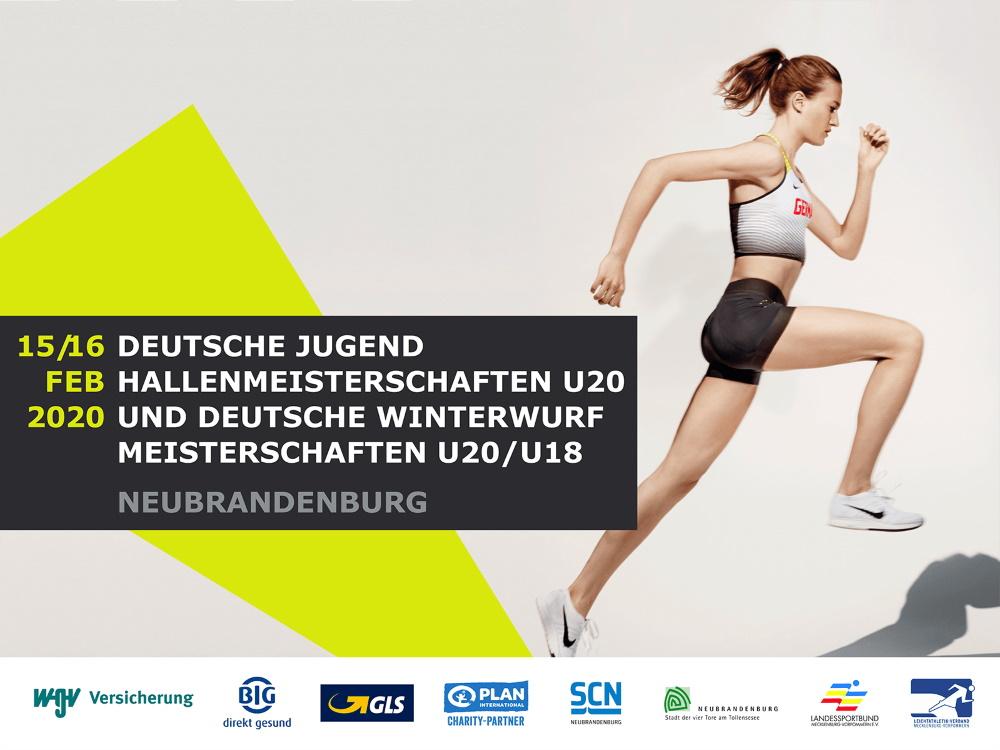 52. Deutschen Jugendhallenmeisterschaften U20 und die 26. Deutschen Winterwurfmeisterschaften Jugend U20/U18 in Neubrandenburg