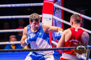Bundesliga-Boxer Nadir Mehmet Ünal beim Kampf. Foto: ©️ Boxclub TRAKTOR Schwerin