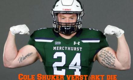 Cole Shuker verstärkt die Griffins Defensive