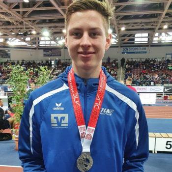 Eric Frank gewinnt seine erste nationale Medaille im Diskuswurf. Foto: Espen Göcke