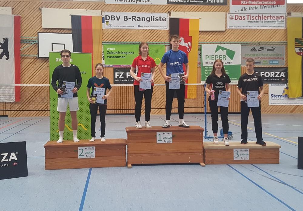 1. Norddeutschen Rangliste U17/19 in Liebenau 2020 - Platz 2 für Luca Wiechmann und seine Berlina Mixed-Partnerin Marleen Schwabe
