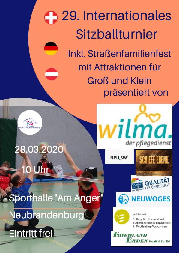 29. internationale Sitzballturnier in Neubrandenburg