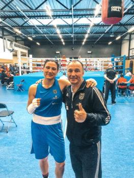 Sarah Scheurich und Trainer Michael Timm Foto: ©️- Boxclub TRAKTOR Schwerin