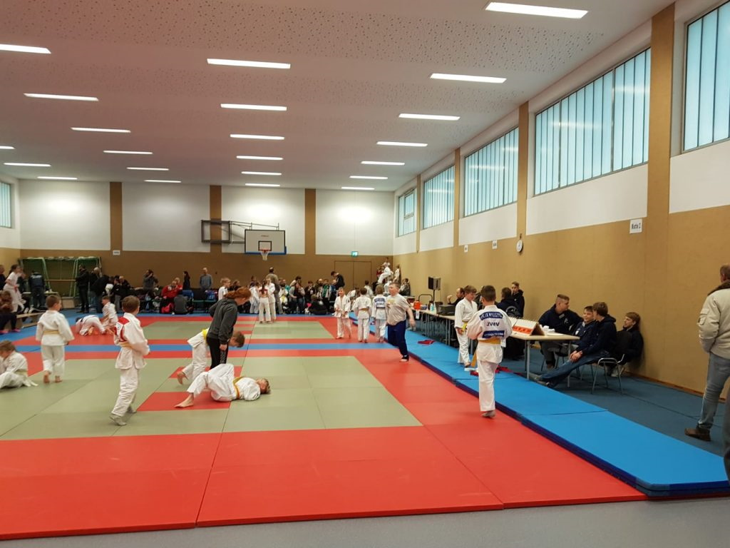 152 Judoka maßen sich auf den beiden Tatamis in der Holthuserner Mehrzweckhalle. Foto: SFV Holthusen