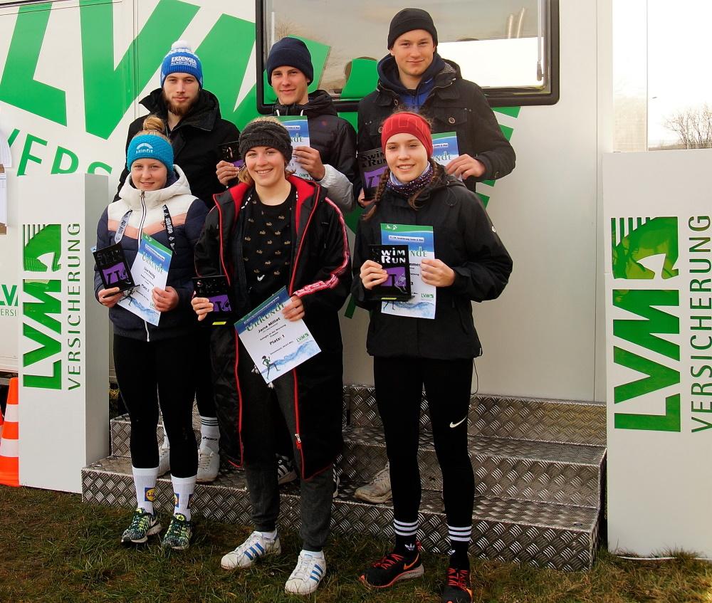 Die Gesamtsieger des 14. LVM-Versicherung Swim&Run. Foto: © Veranstalter