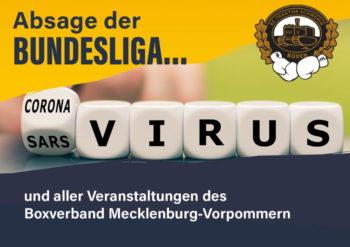 Absage der Box-Bundesliga und aller Veranstaltungen des Boxverband Mecklenburg-Vorpommern
