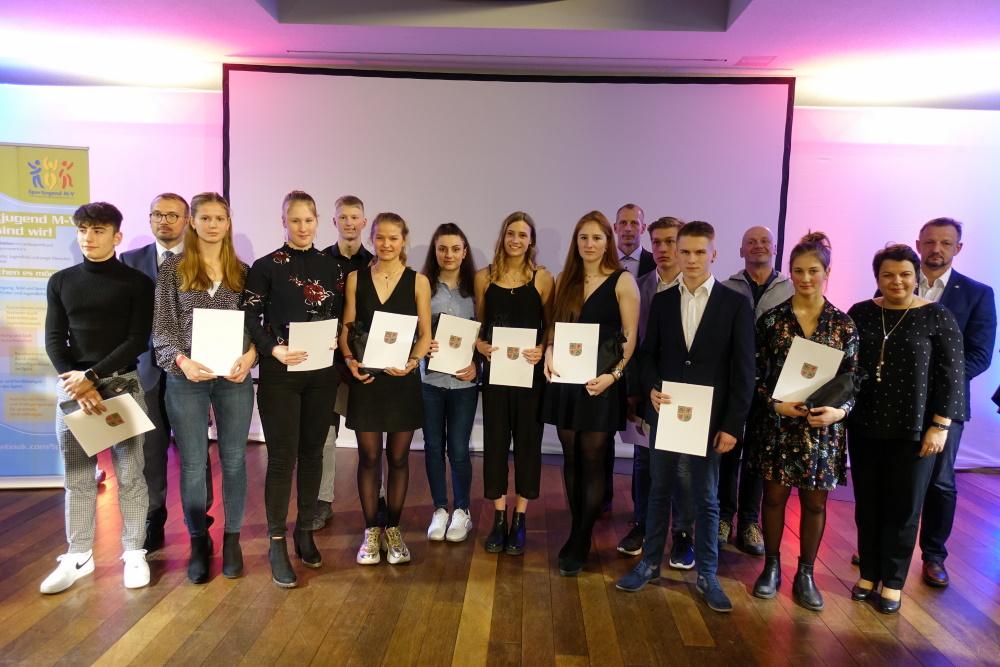Auszeichnung der international erfolgreichen Nachwuchsathlet*innen - Foto: LSB MV/Collin