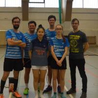 Badminton Sport Club 95 II - Teamfoto nach dem erfolgreichen Auftritt in Sassnitz. Foto: BSC 95 Schwerin