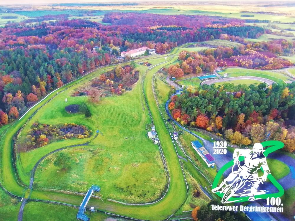 Ein Super-Bahnsport-Wochenende präsentiert der MC Bergring Teterow zu Pfingsten. Luftbild: Verein