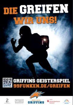 Die Greifen wir uns - Neues GRIFFINS Crowdfunding | 99funken plakat