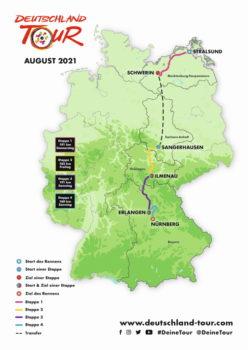 Deutschland Tour 2021 – von der Ostseeküste nach Franken. © Deutschland Tour