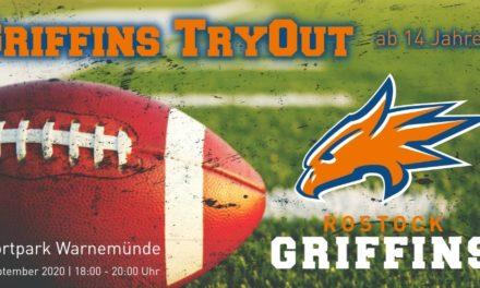 Griffins Tryout am 1. September