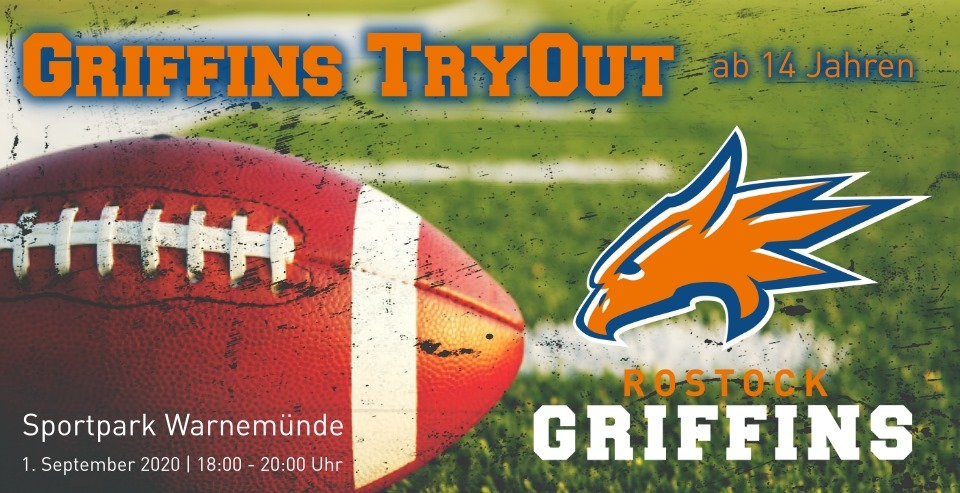 Griffins Tryout am 1. September