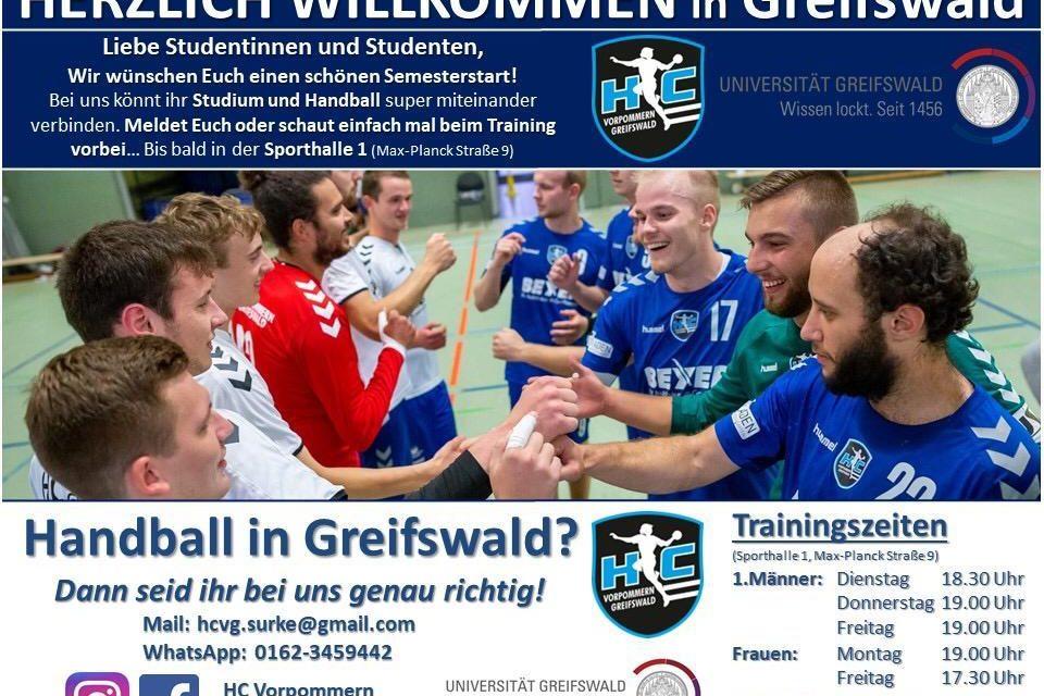 HC Vorpommern-Greifswald begrüßt Studentinnen und Studenten