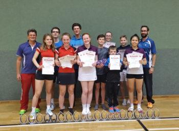 Schwerins Badminton-Asse holten 9x Gold, 3x Silber und 5x Bronze bei den Landesmeisterschaften in Güstrow. Foto: BSC 95 Schwerin