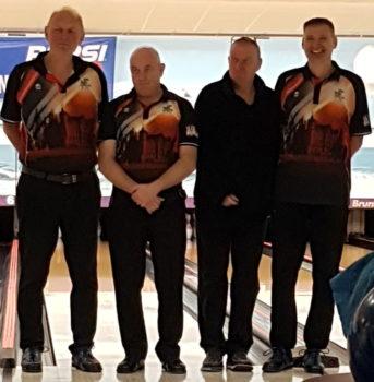 Das Team des Schweriner BV beim zweiten Spieltag in den Bowling-Senioren-Liga