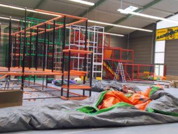 SpielPark im belasso - Bauphase am 6.3.2019. Foto: M.M.