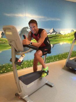 Raik Hellwig beim Training im belasso-Sportzentrum. Foto: R.Hellwig/privat
