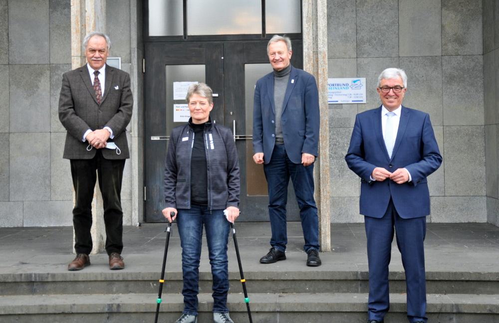 DBS-Präsident Beucher verdeutlicht die Bedeutung des Sporttreibens für Menschen mit Behinderung. Foto: Bernd Paetz