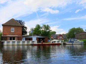 Bootshaus Anklam wasserseitig