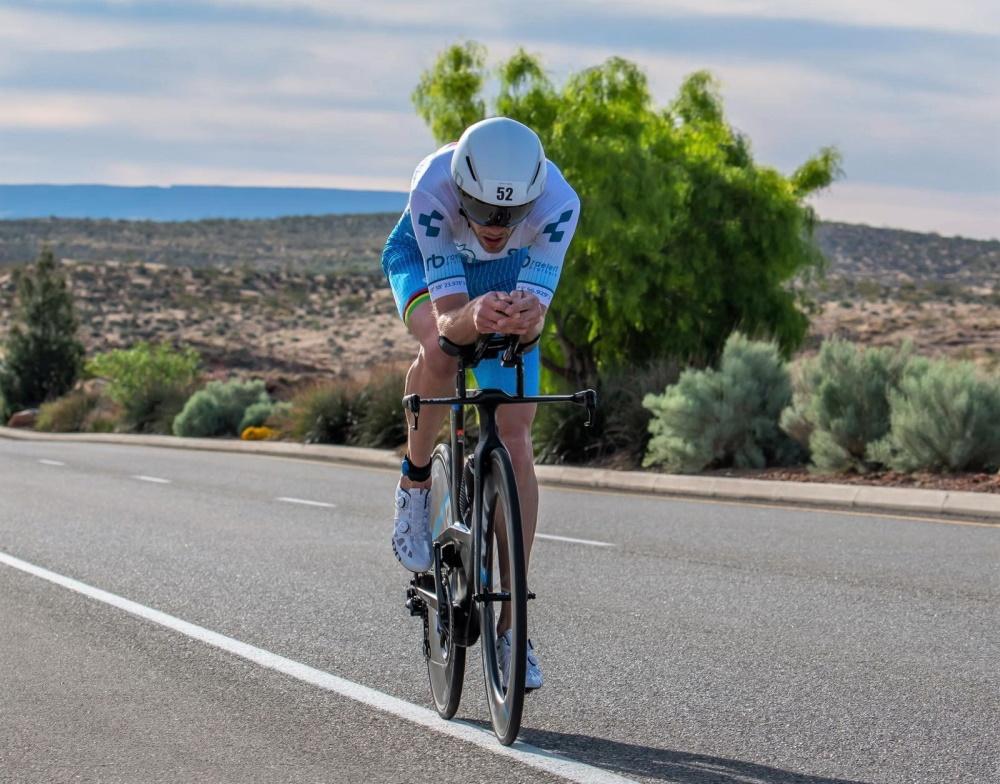 Michael Raelert beim Ironman 70.3 St. George. | Foto: Raelert-Brothers