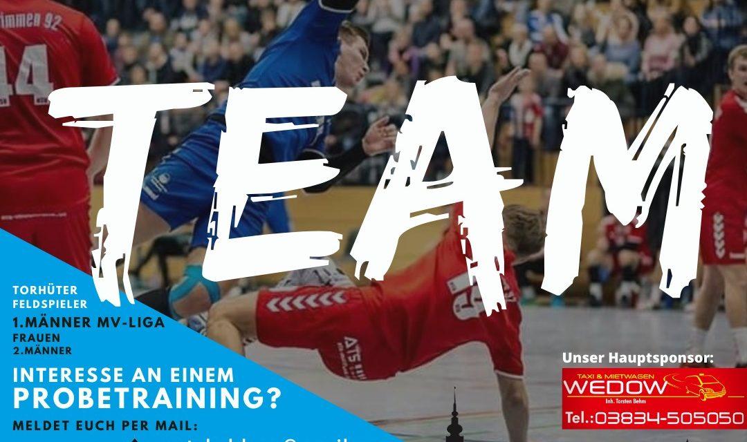 Greifswalder Handballer suchen nach Verstärkung