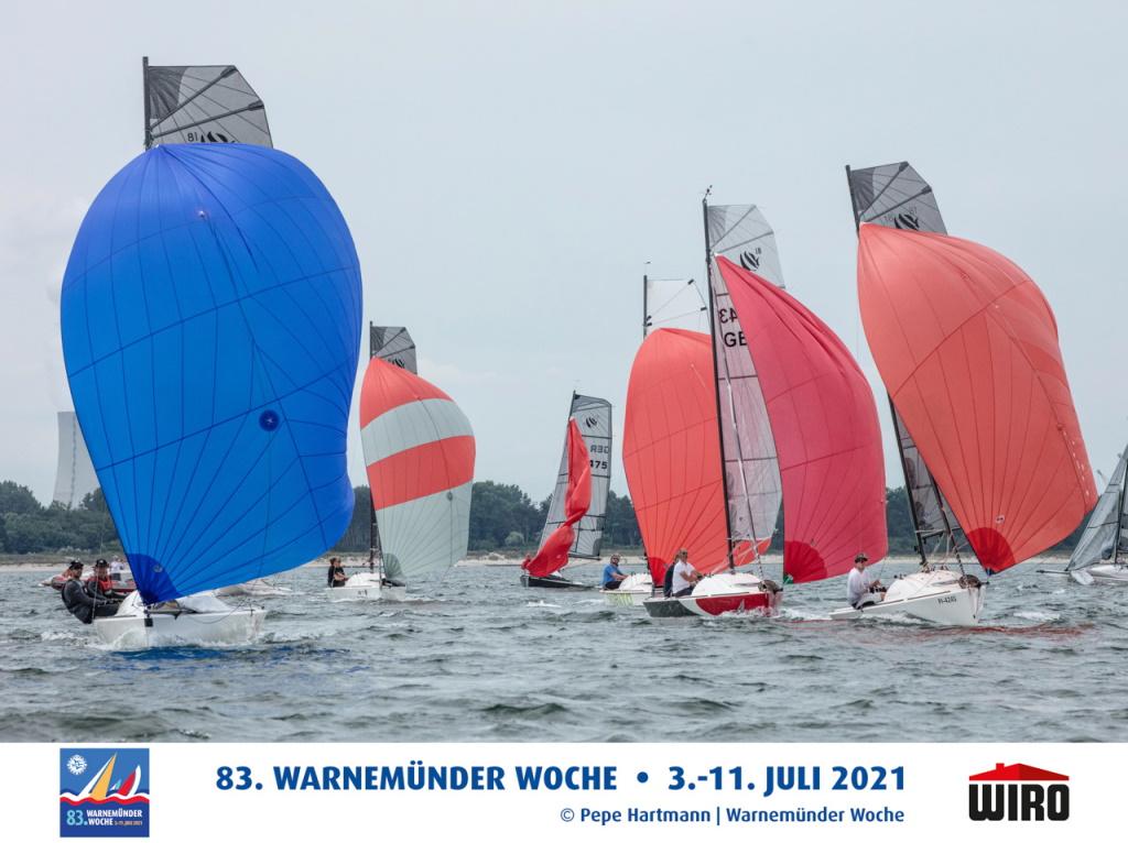 Die First / Seascape 18 segelten vor Warnemünde ihre EM aus. Foto: Pepe Hartmann