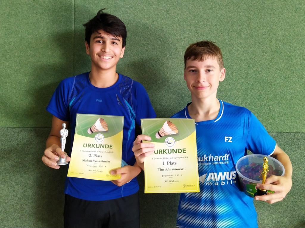 1. und 2. Platz in der AK U17A | 8. Kinder- und Jugendpokal 2021 in der Güstrower Sport- und Kongresshalle