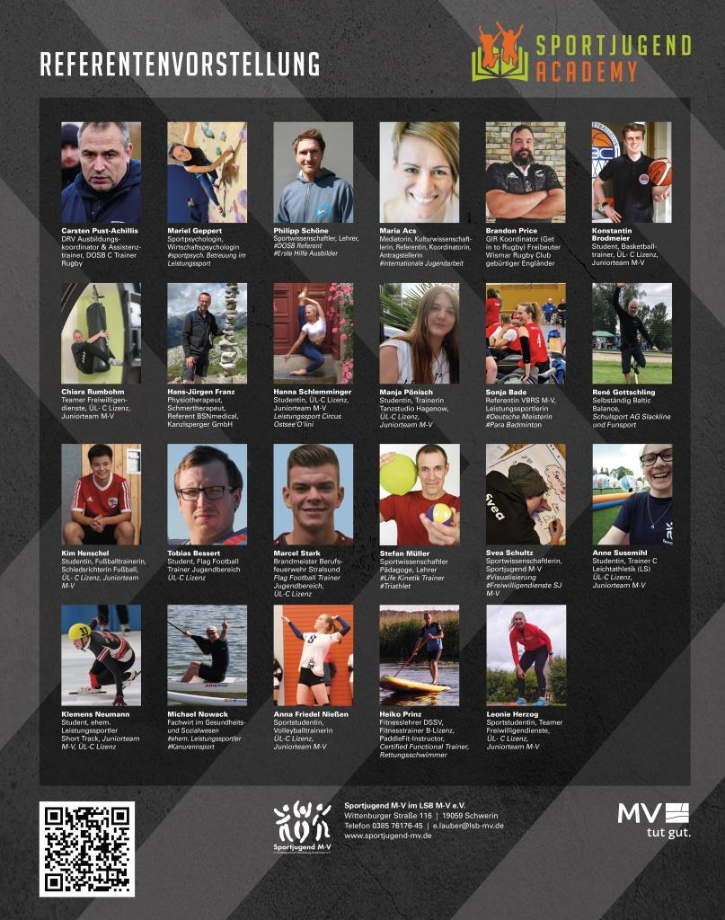 Referentenübersicht Sportjugend Academy 2021 - Workshops